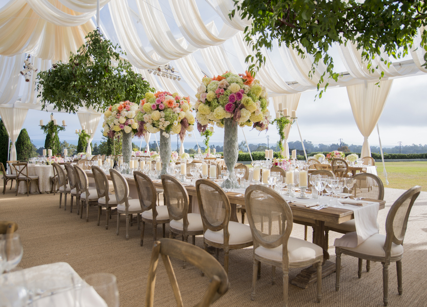 santabarbarawedding.com | Photo: Willa Kveta | Unique Tent Draping Ideas