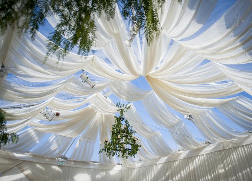 santabarbarawedding.com | Photo: Willa Kveta | Unique Tent Draping Ideas
