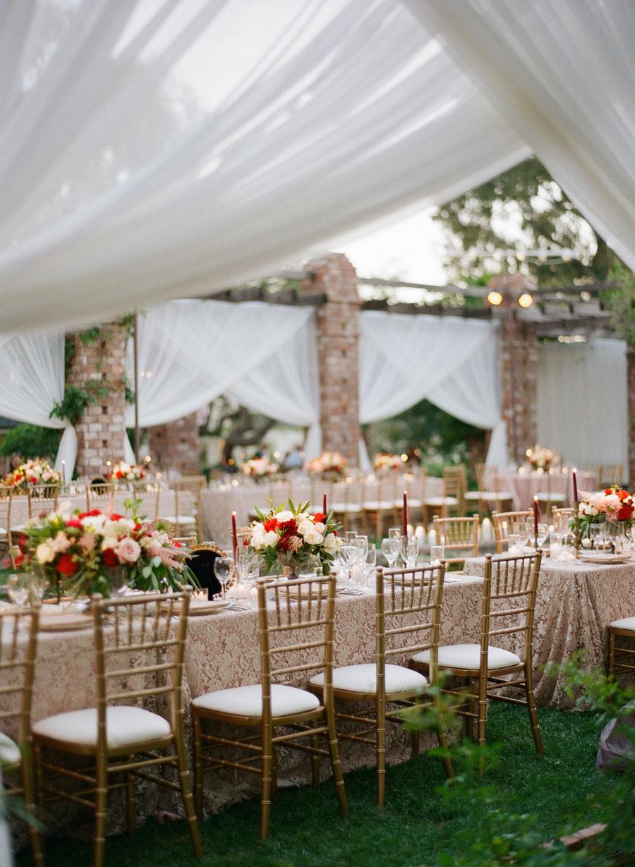 www.santabarbarawedding.com | Gold Chivari Chairs | Wedding Reception Inspiration | Gold Details | Belmond El Encanto | Michelle Beller Photography