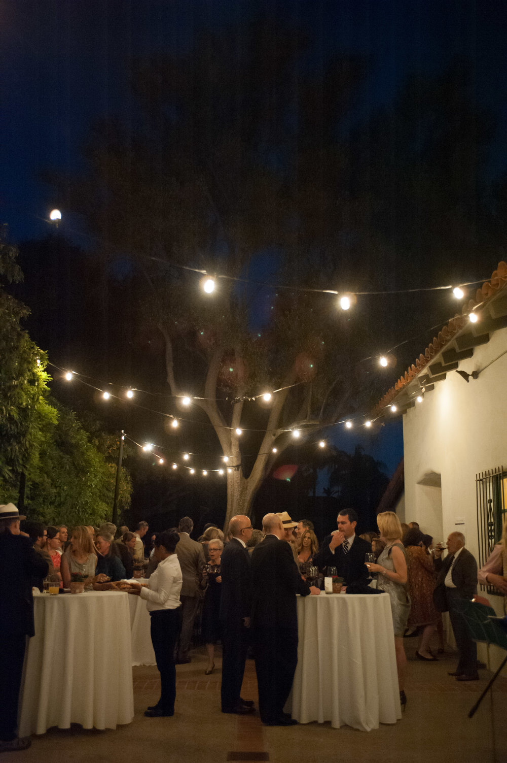 santabarbarawedding.com | Location Spotlight | Wedding Location | Serra Hall | Old Mission | Nighttime Dancing