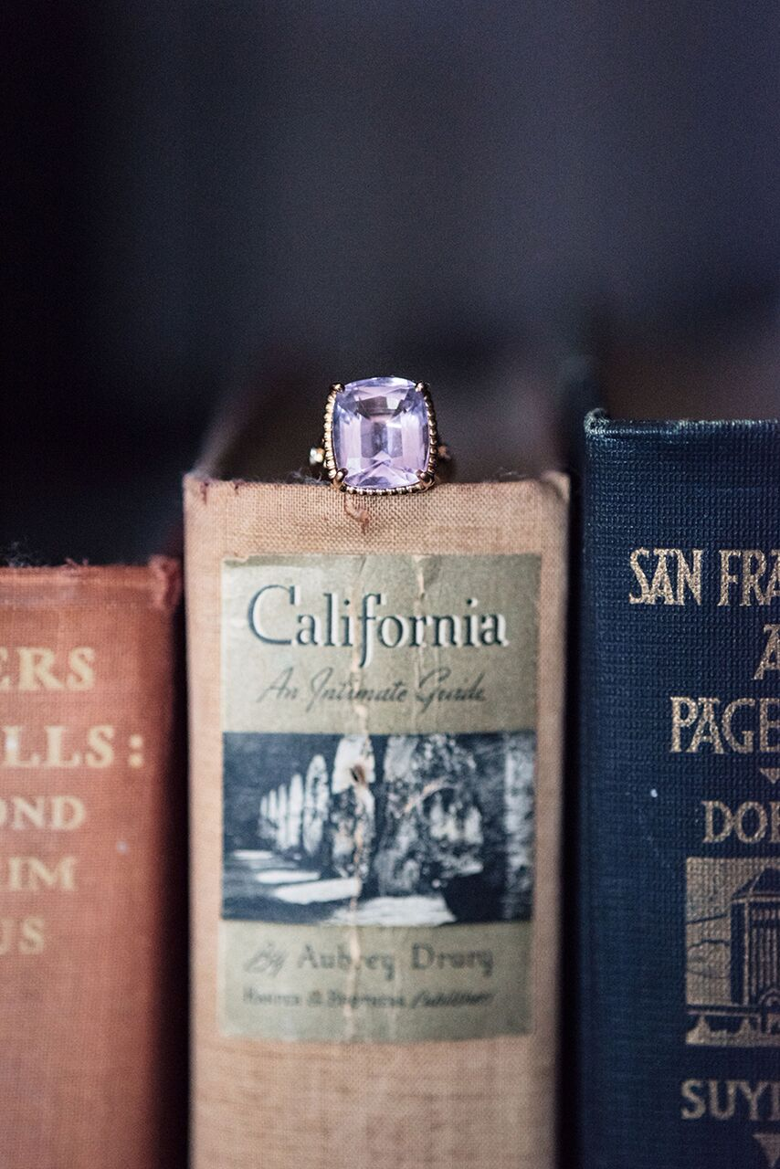 santa barbara wedding style Molly and Co. diamond ring