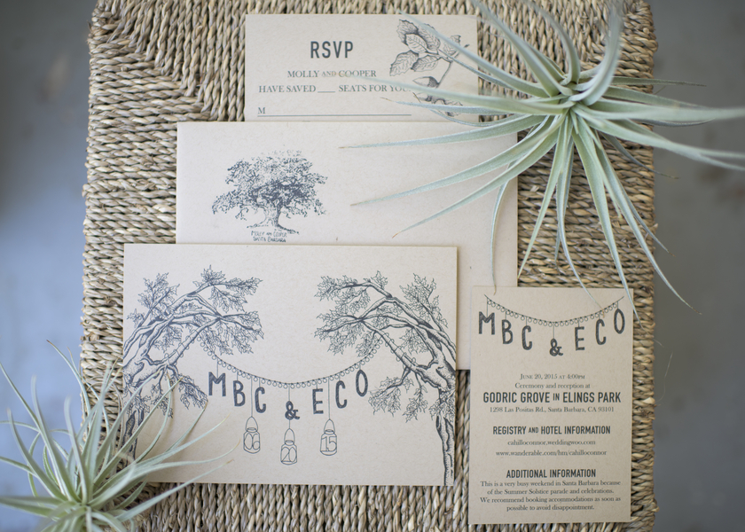 www.santabarbarawedding.com | Willa Kveta Photography | Elings Park | Wedding Invitations