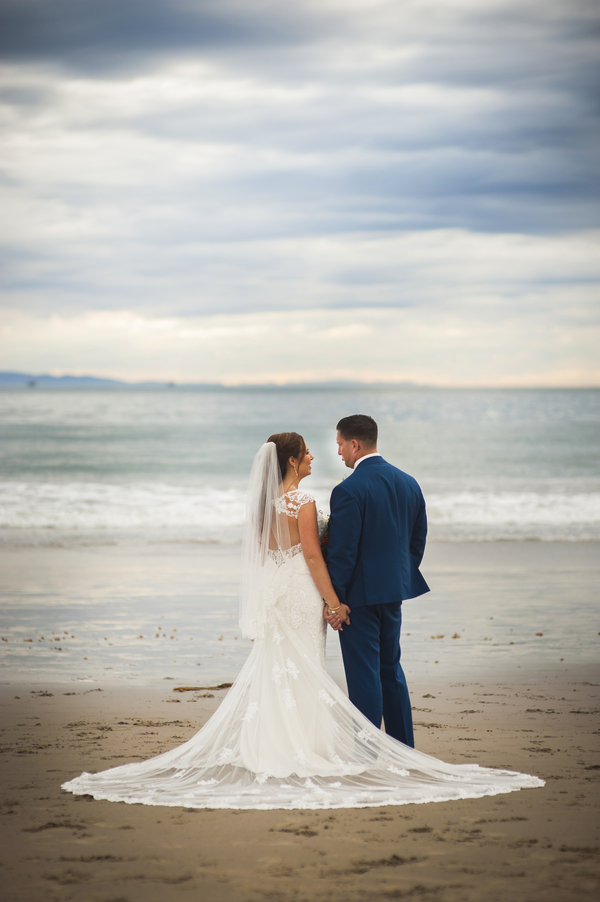 www.santabarbarawedding.com | By Cherry Photography | Rincon Beach Club | Bride and Groom