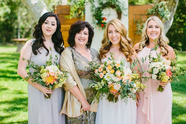 www.SantaBarbaraWedding.com |Margaret Joan Floral | Mother and Three Daughters | Bride and Bridesmaids | Mothers Day