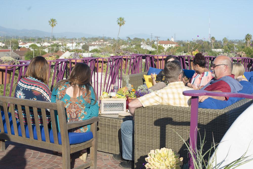 www.SantaBarbaraWedding.com | El Zapato | Private Venue | Downtown Santa Barbara | By Cherry Photography | Great views
