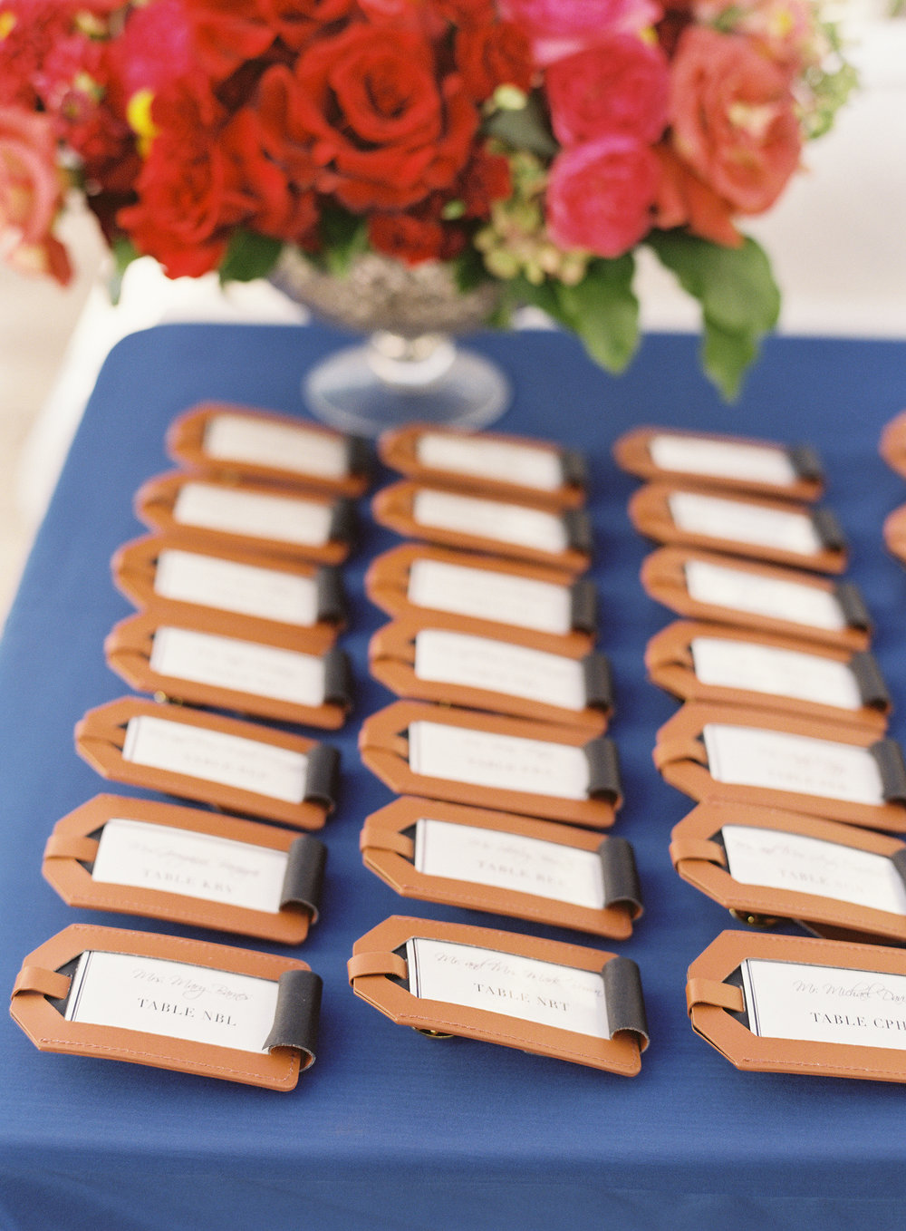 www.santabarbarawedding.com | Linda Chaja Photography | Santa Barbara Museum of Natural History Sea Center | Escort Cards