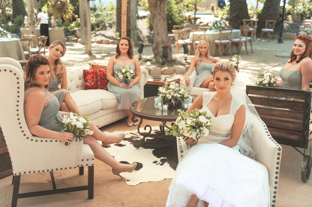 www.santabarbarawedding.com | JKoe Photography | Santa Barbara Historical Museum | Bridesmaids
