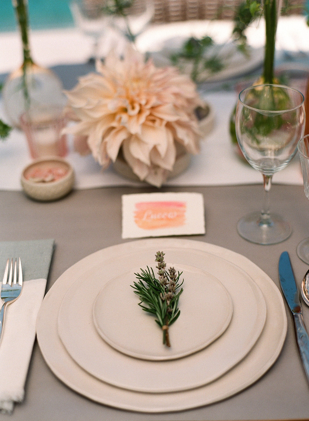 www.santabarbarawedding.com | Megan Sorel Photography | Table Setting