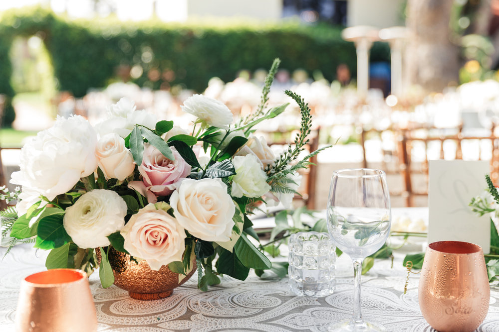 www.santabarbarawedding.com | Sanaz Photography | The Riviera Mansion | Ella and Louie | Flower Arrangement