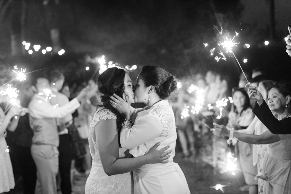 www.santabarbarawedding.com | Sanaz Photography | The Riviera Mansion | Sparklers