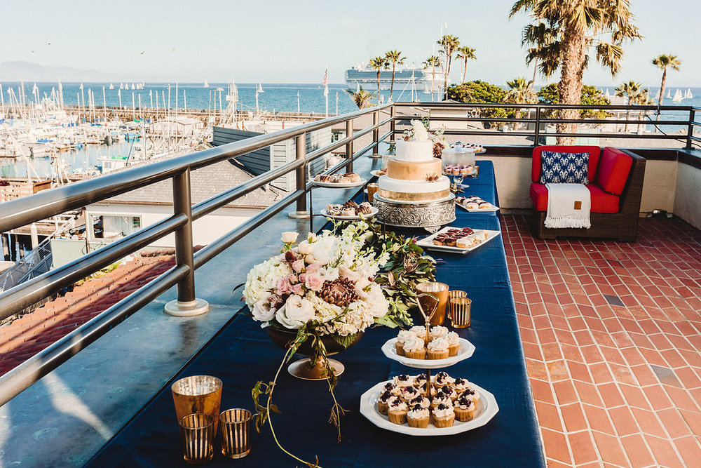www.santabarbarawedding.com | Rewind Photography | Santa Barbara Maritime Museum | Dessert Table