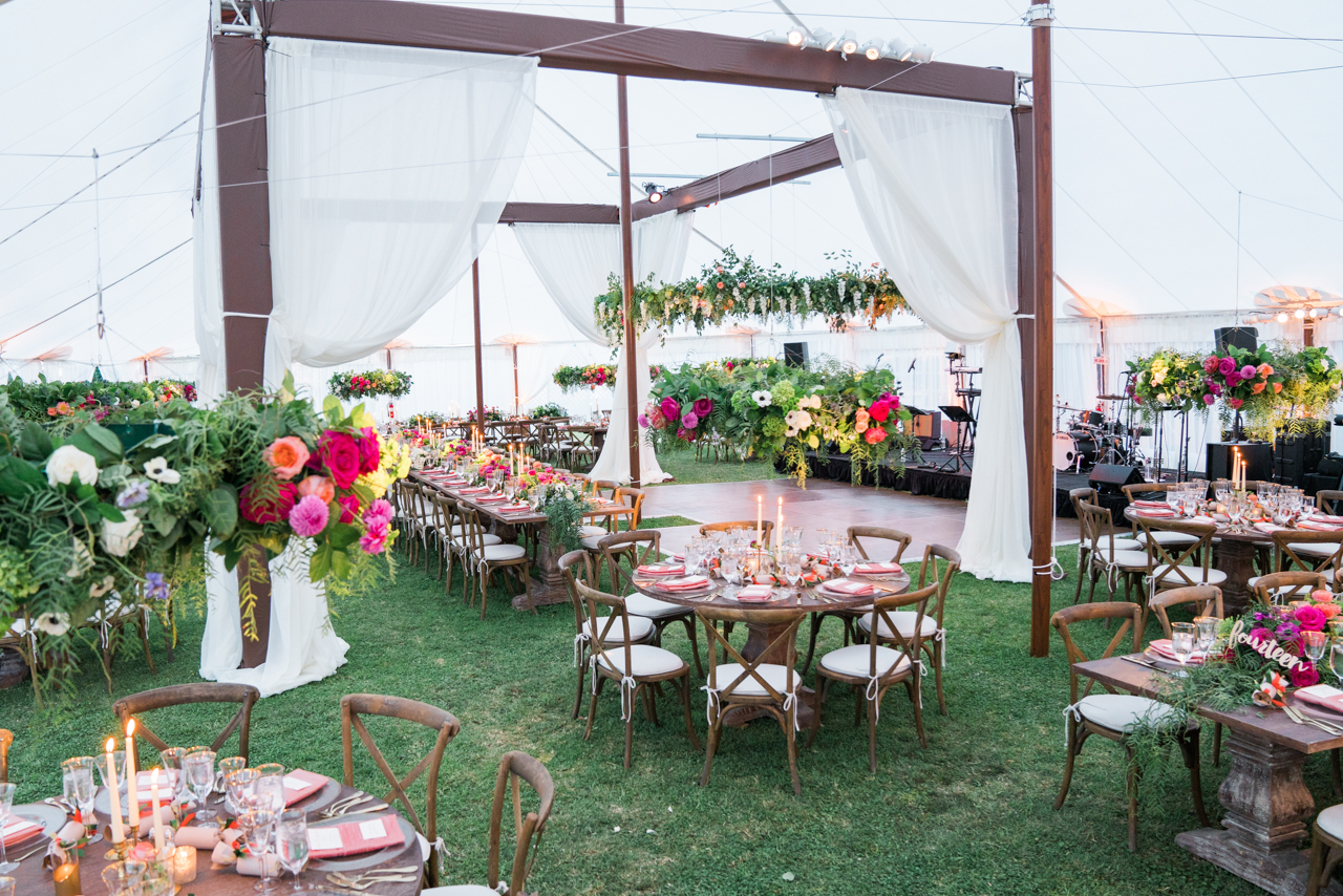 Elegant Outdoor Wedding With A Beautifully Draped Tent