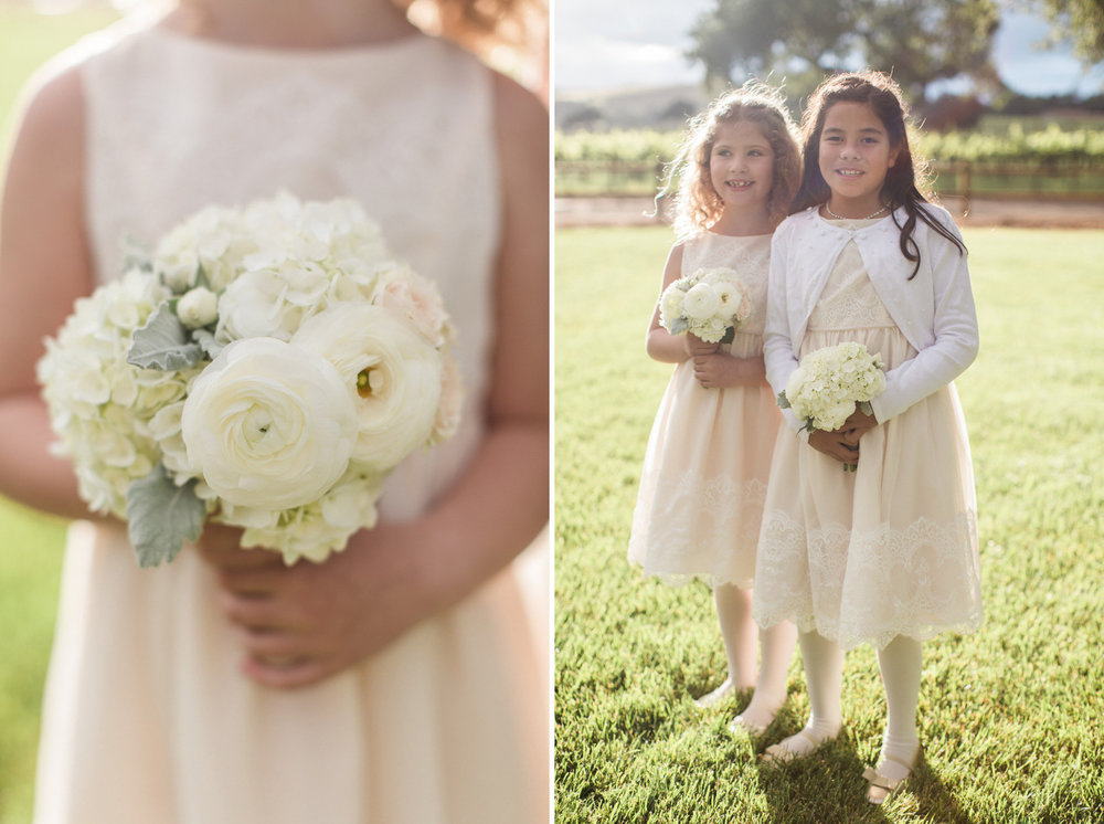 www.santabarbarawedding.com | Anna J Photography | Firestone Vineyard | Flower Girls