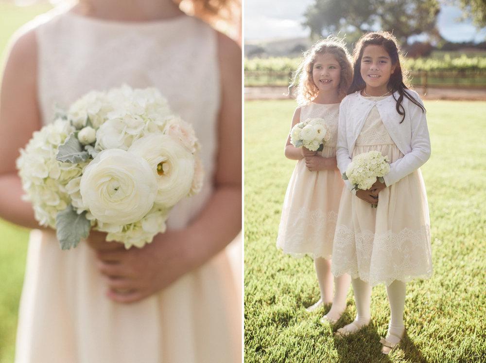 www.santabarbarawedding.com | Anna J Photography | Firestone Vineyard | Flower Girls