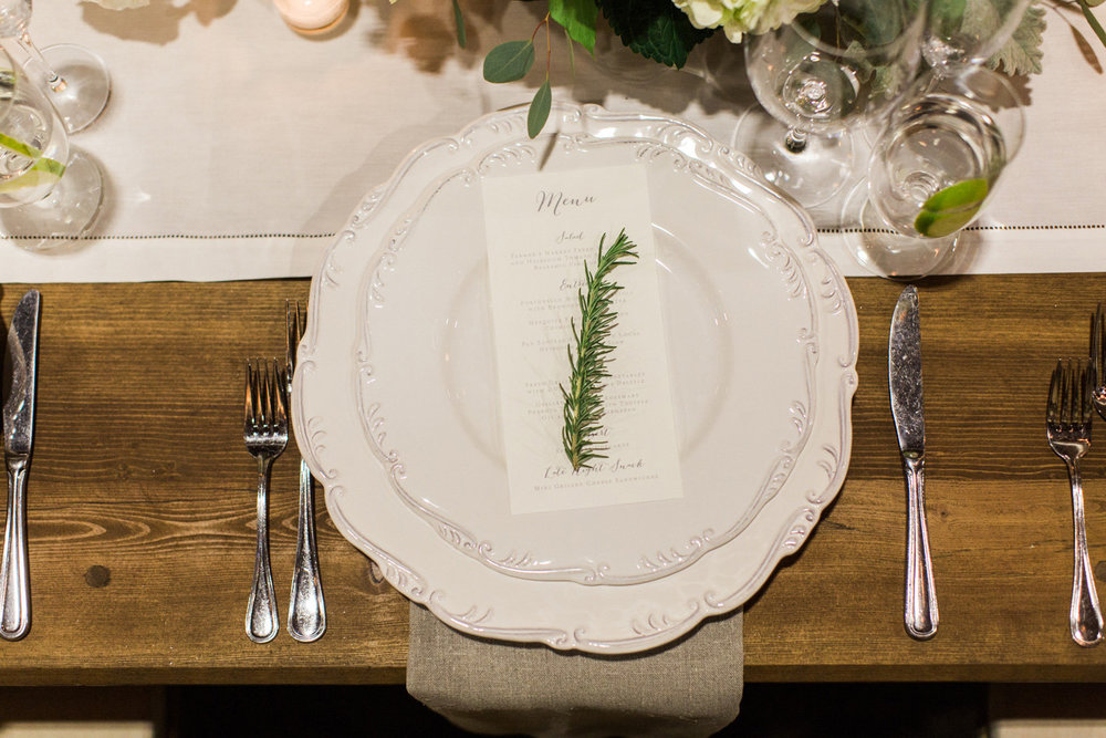 www.santabarbarawedding.com | Anna J Photography | Firestone Vineyard | Place Setting