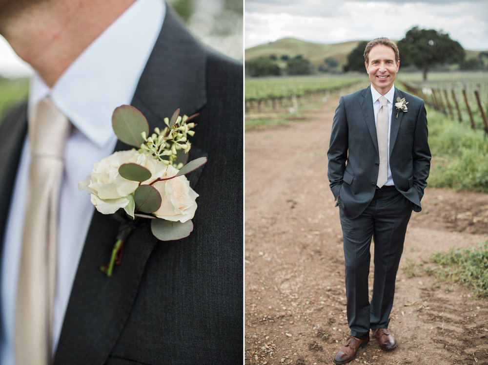 www.santabarbarawedding.com | Anna J Photography | Firestone Vineyard | Groom