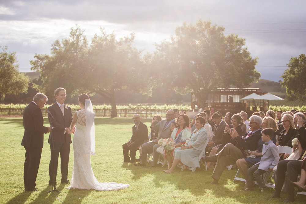 www.santabarbarawedding.com | Anna J Photography | Firestone Vineyard | Ceremony