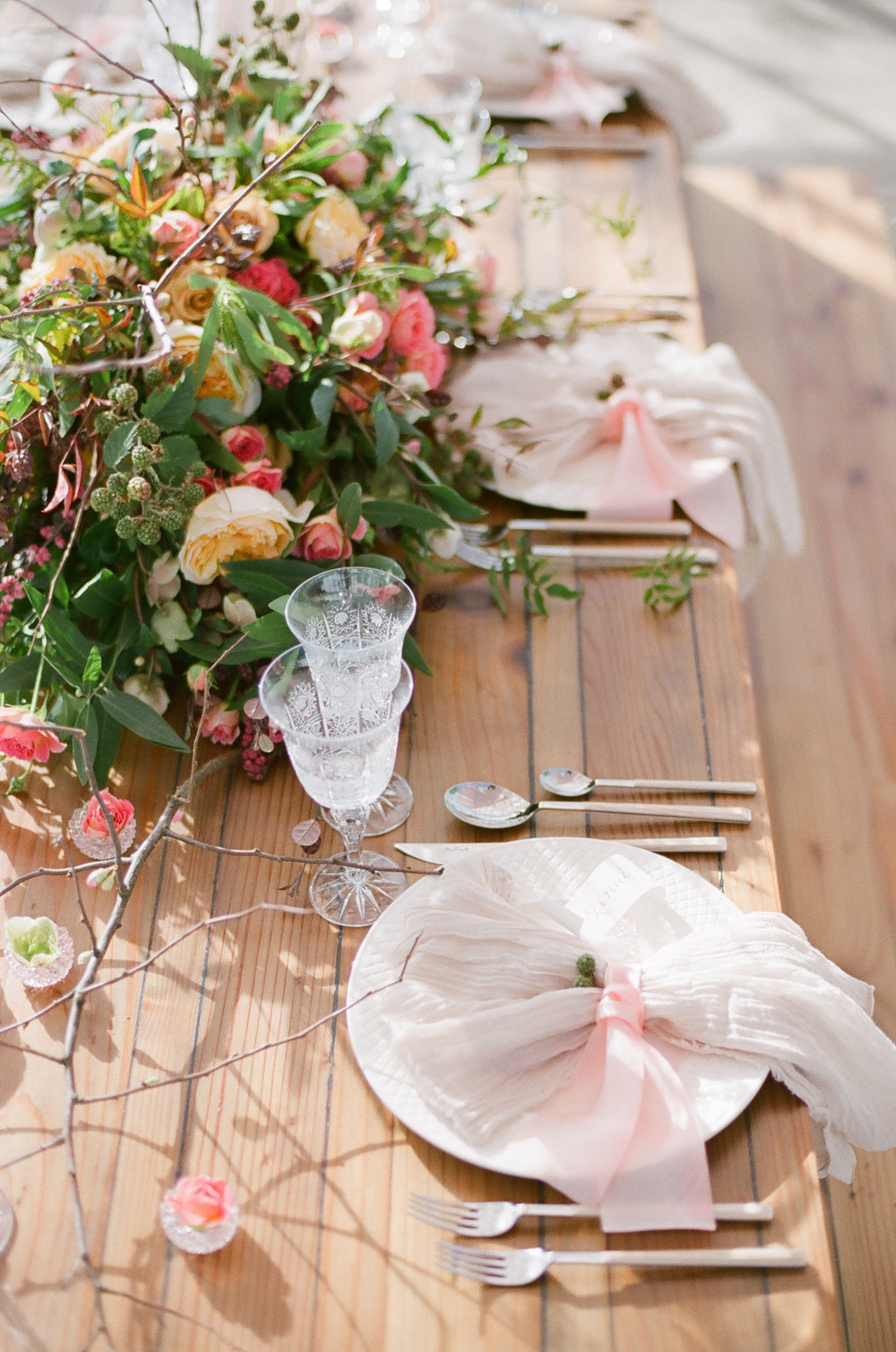 www.santabarbarawedding.com | Megan Sorel Photography | Dos Pueblos Orchid Farm | Table Setting