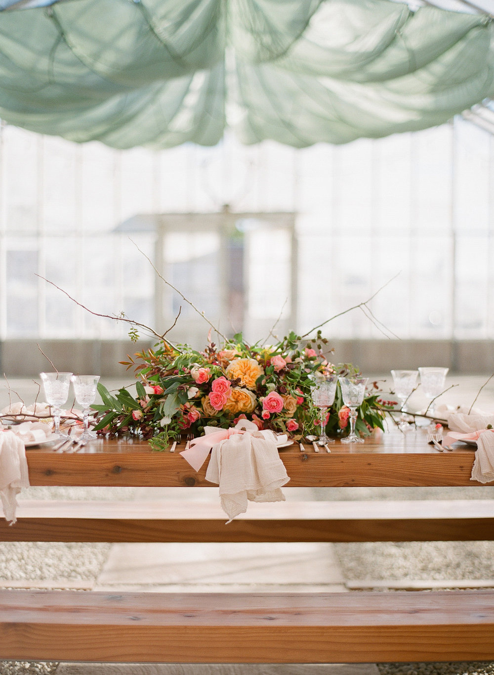 www.santabarbarawedding.com | Megan Sorel Photography | Dos Pueblos Orchid Farm | Table