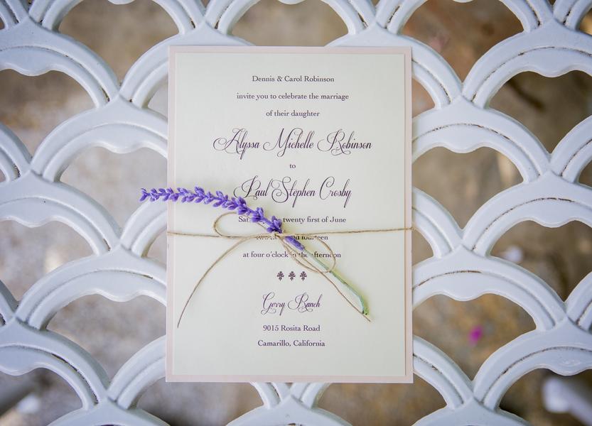www.santabarbarawedding.com | Willa Kveta Photography | Gerry Ranch | Invitation