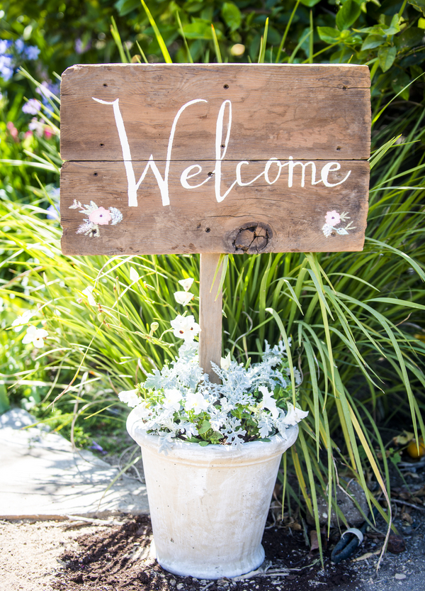 www.santabarbarawedding.com | Willa Kveta Photography | Gerry Ranch | Welcome Sign