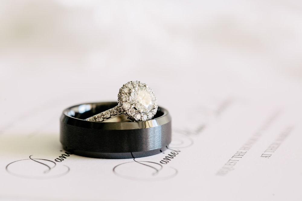 www.santabarbarawedding.com | Rewind Photography | Rancho La Patera | Serra Hall | Wedding Rings