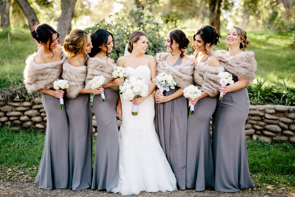 www.santabarbarawedding.com | Rewind Photography | Rancho La Patera | Serra Hall | Bridesmaids