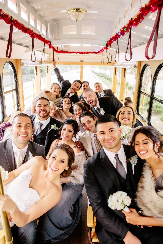 www.santabarbarawedding.com | Rewind Photography | Rancho La Patera | Serra Hall | Santa Barbara Trolley