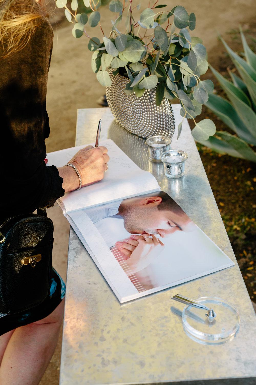 www.santabarbarawedding.com | Rewind Photography | Rancho La Patera | Serra Hall | Guestbook