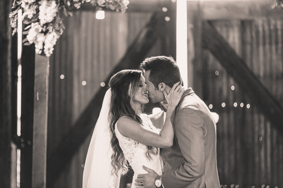 www.santabarbarawedding.com | Kramer Events | Santa Margarita Ranch | Bride and Groom | First Kiss