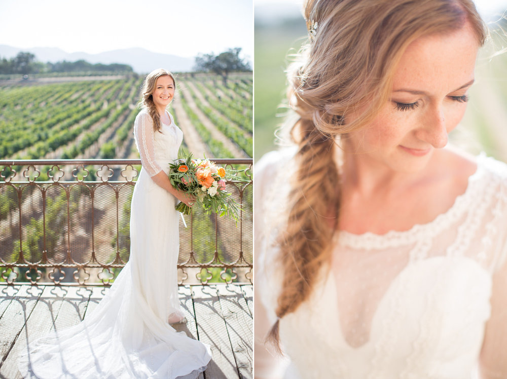 www.santabarbarawedding.com | Anna J Photography | Villa Sunstone | Ella & Louie | Bride
