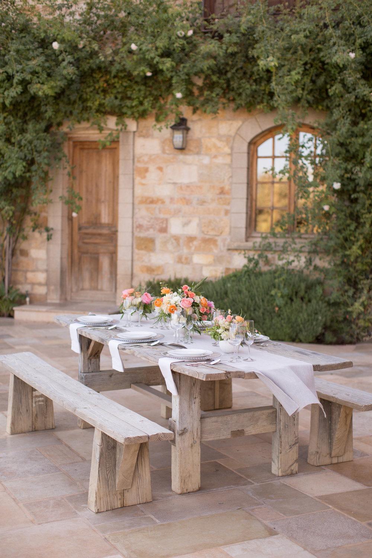 www.santabarbarawedding.com | Anna J Photography | Villa Sunstone | Ella & Louie | Reception Table