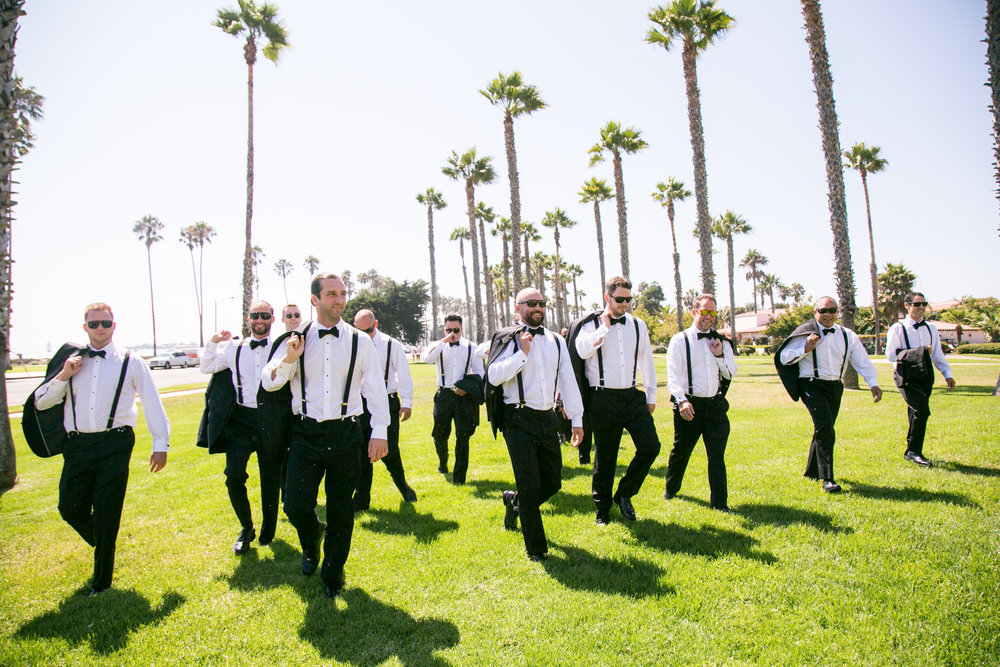 www.santabarbarawedding.com | Chris Schmitt Photography | Felici Events | Fess Parker Double Tree | Groomsmen