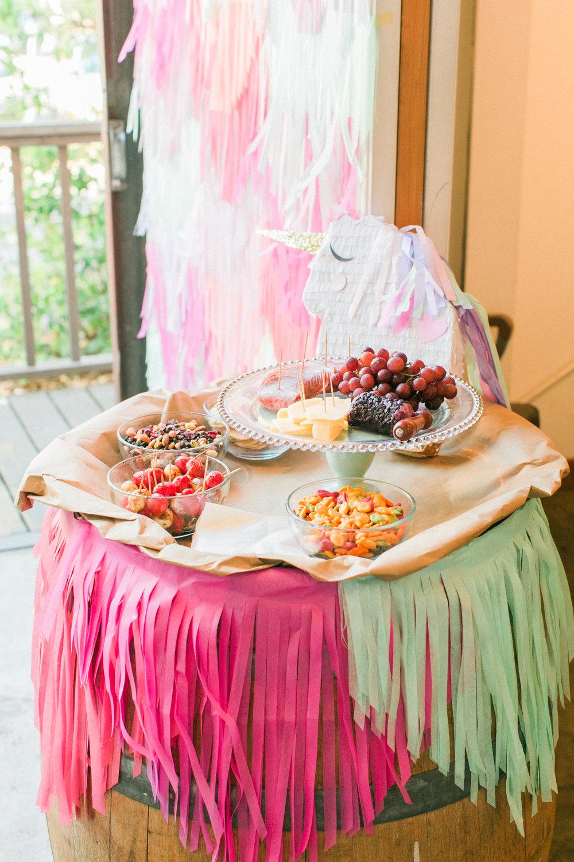 www.santabarbarawedding.com | Municipal Winery | Unicorn Food | Pinata Workshop | Bridal Party Ideas | Pink Elephant and Co  | Kelsey Crews Photography