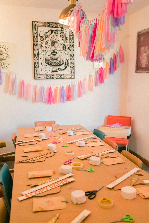 www.santabarbarawedding.com | Municipal Winery | Wedding Activity | Pinata Workshop | Bridal Party Ideas | Pink Elephant and Co | Unicorns | Felici Events  | Kelsey Crews Photography