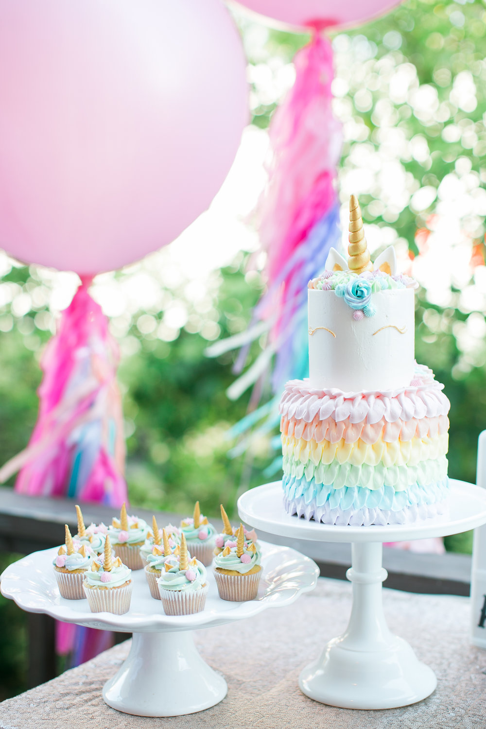 www.santabarbarawedding.com | Municipal Winery  | Pinata Workshop | Bridal Party Ideas | Pink Elephant and Co | Unicorn Cupcakes | Unicorn Cake | Unicorn Party Inspiration | Kelsey Crews Photography