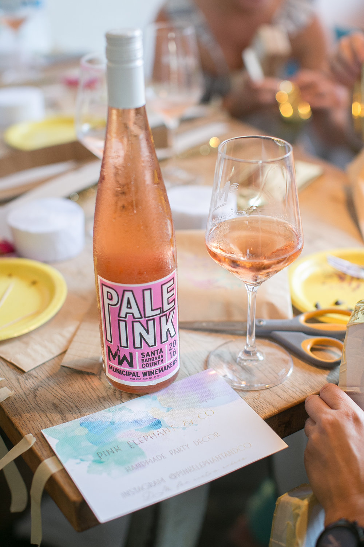 www.santabarbarawedding.com | Municipal Winery | Wedding Activity | Pinata Workshop | Wedding Party Ideas | Pink Elephant and Co | Funk Zone | Rose Wine | Kelsey Crews Photography