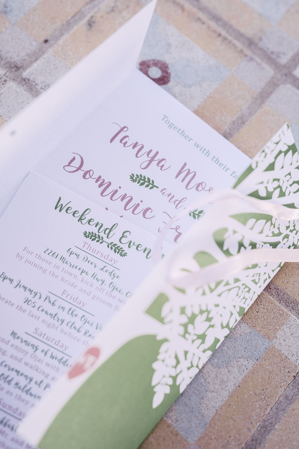 www.santabarbarawedding.com | Rewind Photography | Provence in Ojai | Wedding Invitations