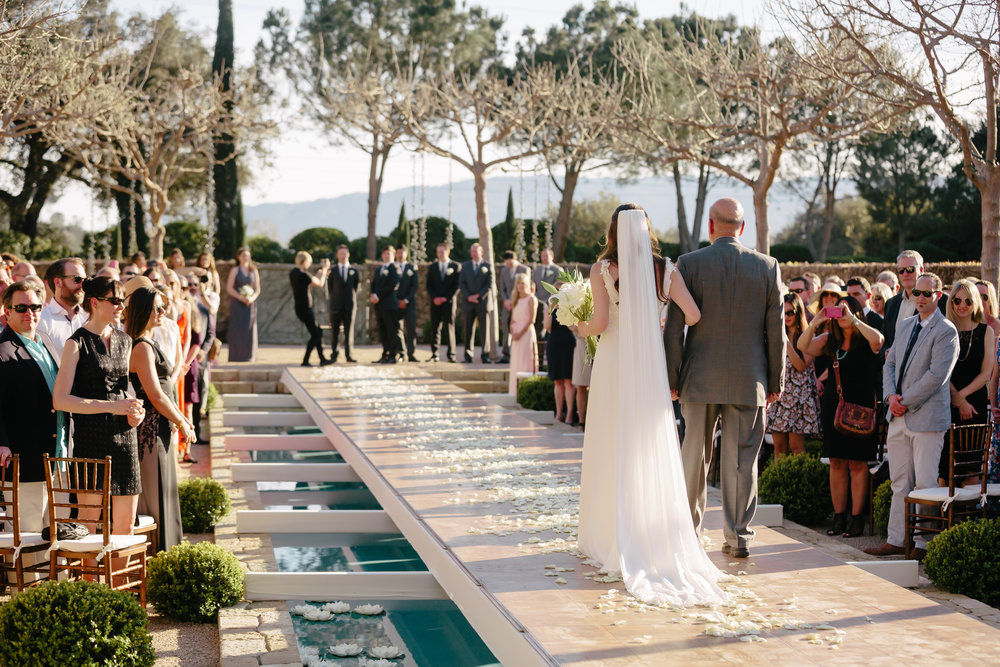 www.santabarbarawedding.com | Rewind Photography | Provence in Ojai | Father and Bride | Ceremony