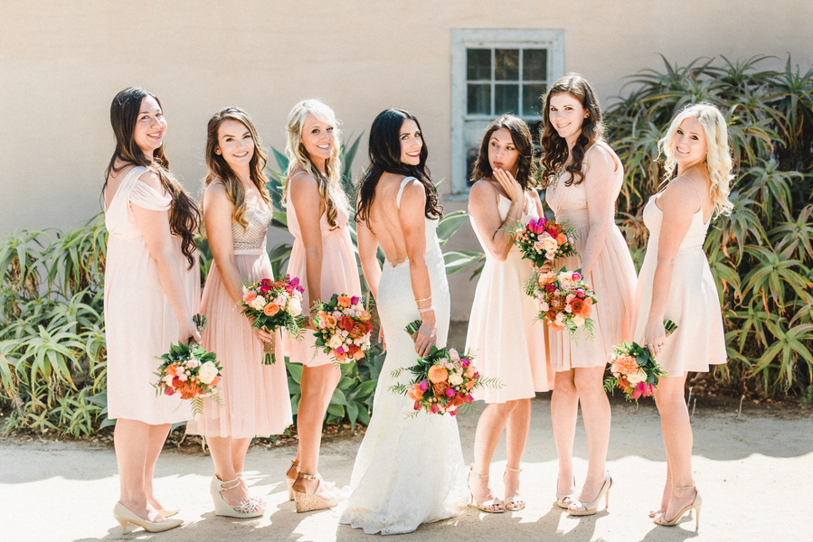 www.santabarbarawedding.com | Grace Kathryn Photography | Santa Barbara Historical Museum | Bridesmaids
