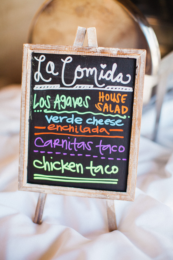 www.santabarbarawedding.com | Grace Kathryn Photography | Santa Barbara Historical Museum | Dinner Menu