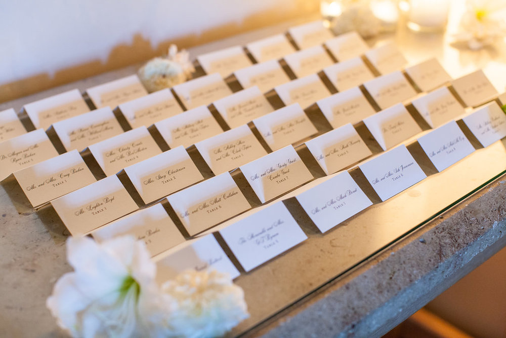 www.santabarbarawedding.com | Melissa Musgrove Photography | Four Seasons Resort The Biltmore | Escort Cards