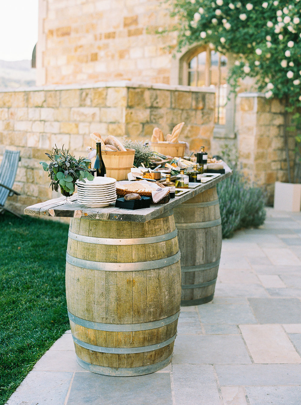 www.santabarbarawedding.com | Sunstone Winery | Jen Rodriguez | Dinner Party | Wine Barrels | Drinks