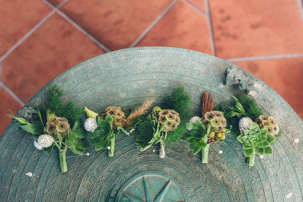 www.santabarbarawedding.com | Vitae Weddings | Bacara Resort | Boutonnieres