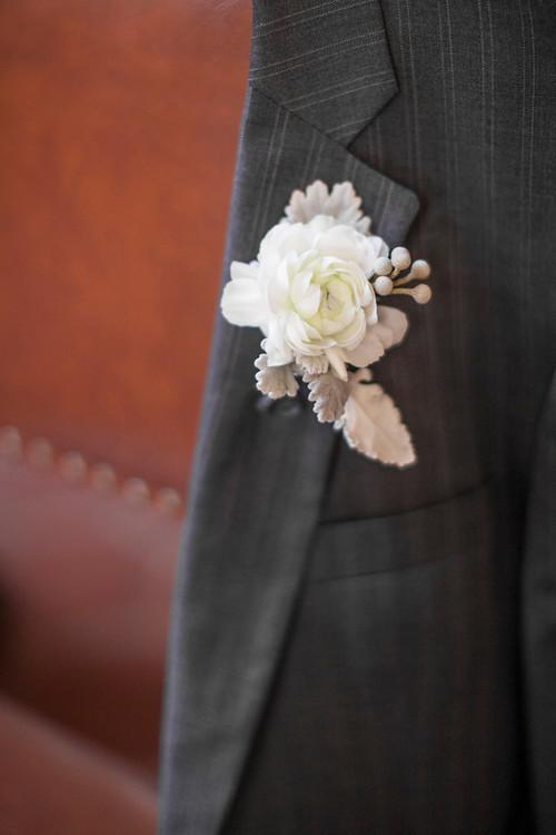 www.SantaBarbaraWedding.com | Cody Floral Design | White Boutonniere