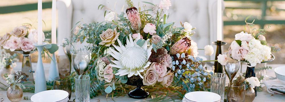 www.SantaBarbaraWedding.com | Margaret Joan Floral | Centerpiece | Protea