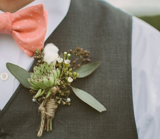 www.SantaBarbaraWedding.com | Margaret Joan Floral | Boutonniere | Protea