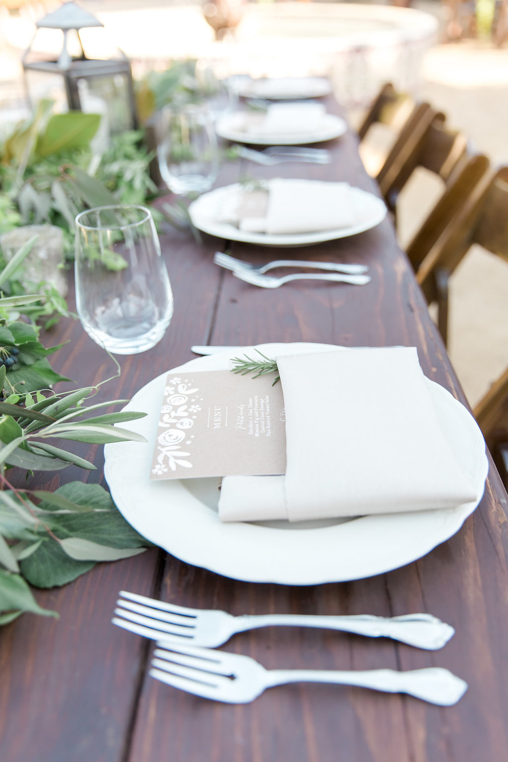 www.santabarbarawedding.com | Jessica Angell Photography | Apple Creek Ranch | Reception | Table Place Setting