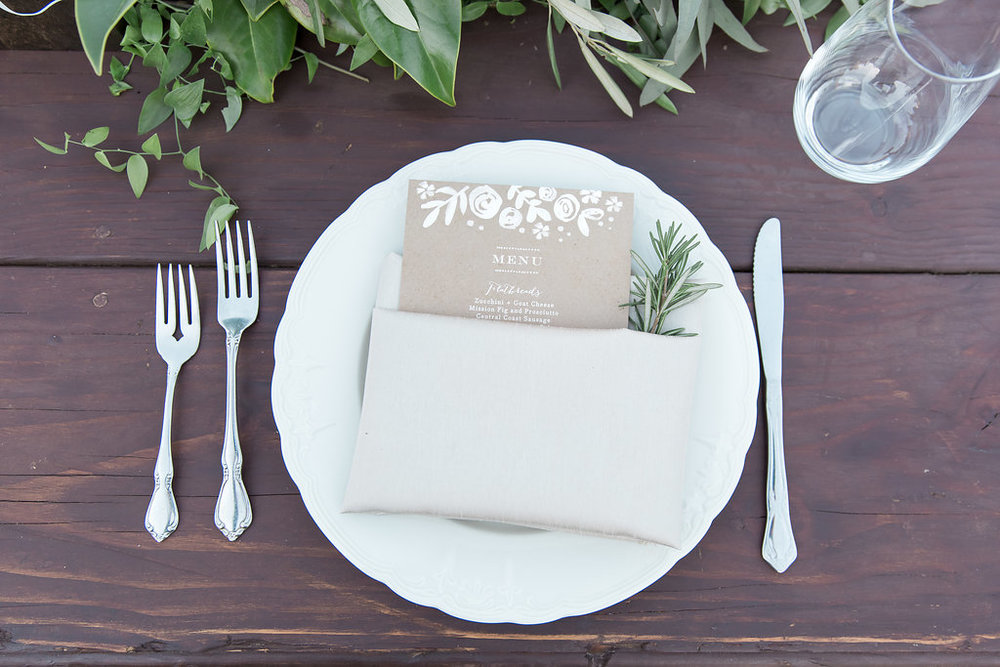 www.santabarbarawedding.com | Jessica Angell Photography | Apple Creek Ranch | Reception | Place Setting