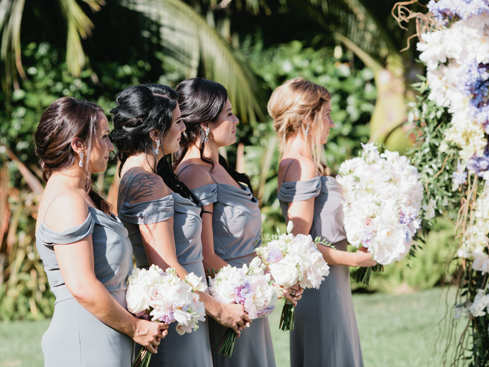 www.santabarbarawedding.com | Ashley Kelemen Photography | Four Seasons Santa Barbara | Bridesmaids | Ceremony